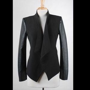 BCBGMaxAzria Black Faux Leather Jacket